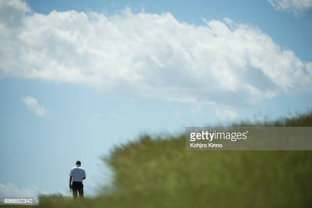 US Open Overall view of golfer in action during Thursday play at Erin Hills GC Hartford WI CREDIT Kohjiro Kinno
