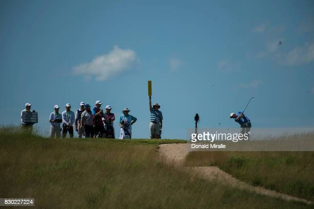 US Open Overall view of miscellaneous drive action during Thursday play at Erin Hills GC Hartford WI CREDIT Donald Miralle