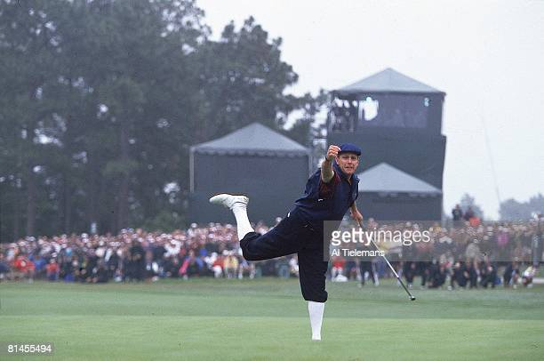Golf US Open Payne Stewart victorious after winning on Sunday at Pinehurst Resort Pinehurst NC 6/20/1999
