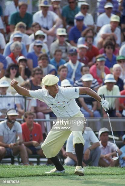 US Open Payne Stewart victorious during Sunday play at Shinnecock Hills Golf Club Southampton NY CREDIT John Iacono