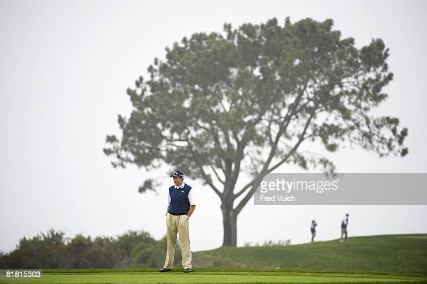 US Open Practice Swing instructor David Leadbetter David Leadbetter watching student Trevor Immelman during Tuesday practice round at Torrey Pines GC...
