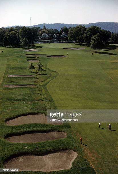 US Open Preview Scenic aerial view of No 9 hole at Oakmont CC Oakmont PA CREDIT John G Zimmerman