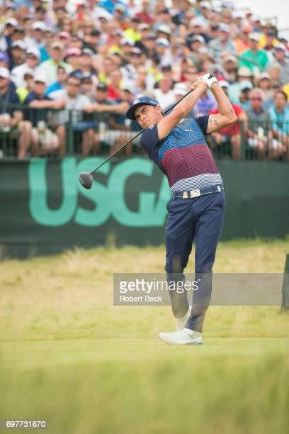 Rickie Fowler in action, drive on tee No 1 during Saturday play at Erin Hills GC. Hartford, WI 6/17/2017 CREDIT: Robert Beck