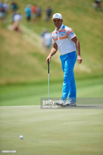 Rickie Fowler in action, putt during Thursday play at Erin Hills GC. Hartford, WI 6/15/2017 CREDIT: Robert Beck