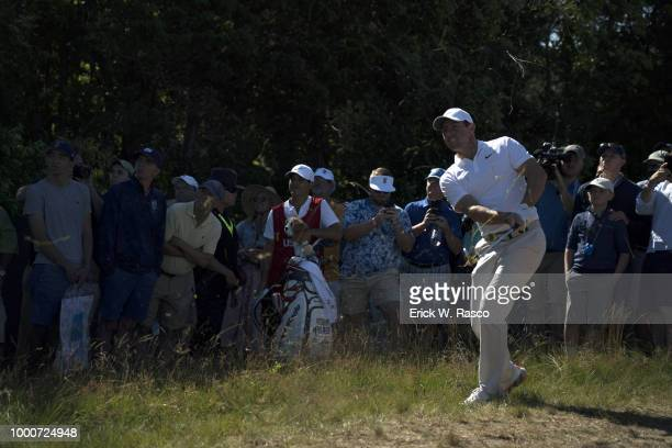 US Open Rory McIlroy in action during Thursday play at Shinnecock Hills GC Southampton NY CREDIT Erick W Rasco