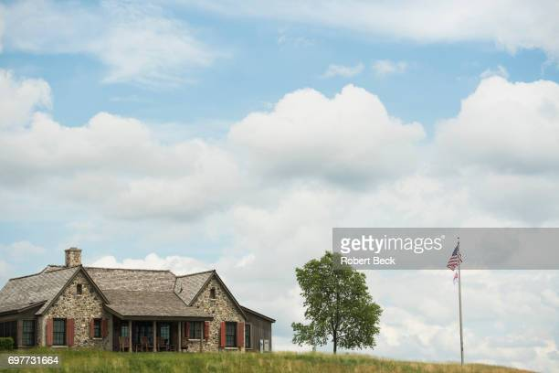 US Open Scenic view of clubhouse during Saturday play at Erin Hills GC Hartford WI CREDIT Robert Beck