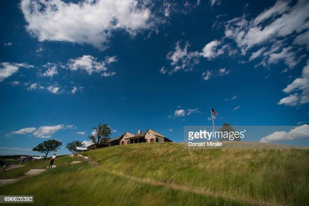 US Open Scenic view of clubhouse during Thursday play at Erin Hills GC Hartford WI CREDIT Donald Miralle