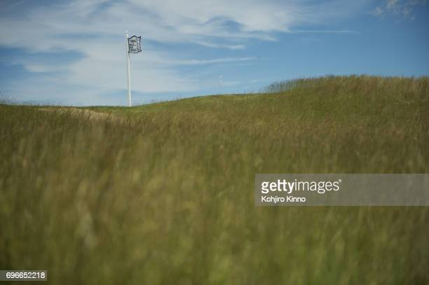 US Open Scenic view of tee No 9 hole during Thursday play at Erin Hills GC Hartford WI CREDIT Kohjiro Kinno