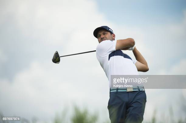 US Open Sergio Garcia in action drive during Saturday play at Erin Hills GC Hartford WI CREDIT Kohjiro Kinno