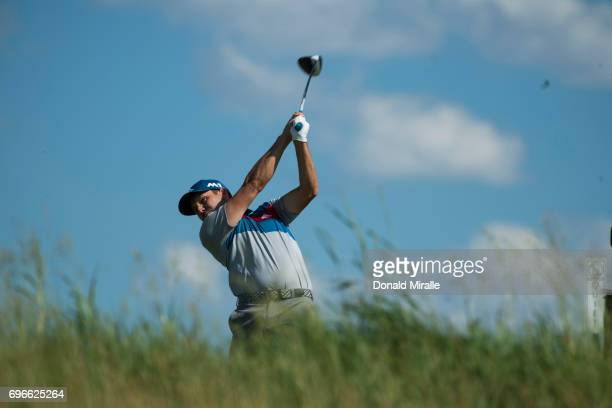 Sergio Garcia in action, drive during Thursday play at Erin Hills GC. Hartford, WI 6/15/2017 CREDIT: Donald Miralle
