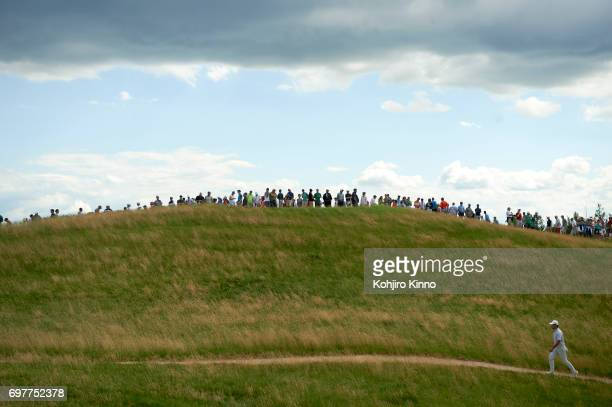 US Open Si Woo Kim walks the course during Sunday play at Erin Hills GC Hartford WI CREDIT Kohjiro Kinno