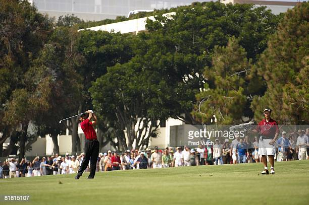 US Open Tiger Woods in action on Sunday at Torrey Pines GC La Jolla CA 6/15/2008 CREDIT Fred Vuich