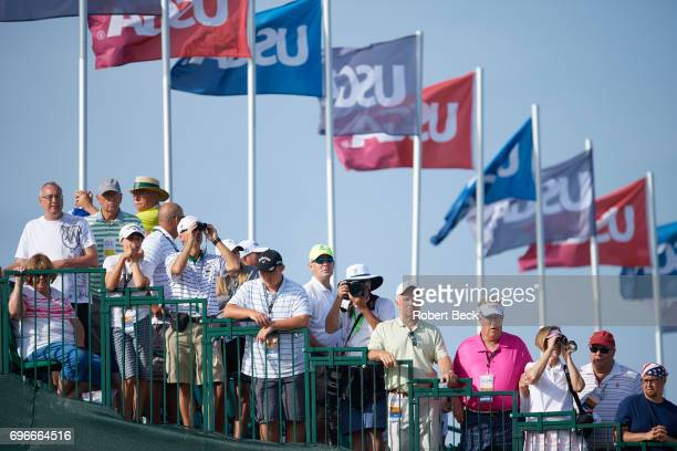 US Open View of spectators in the stands during Thursday play at Erin Hills GC Hartford WI CREDIT Robert Beck