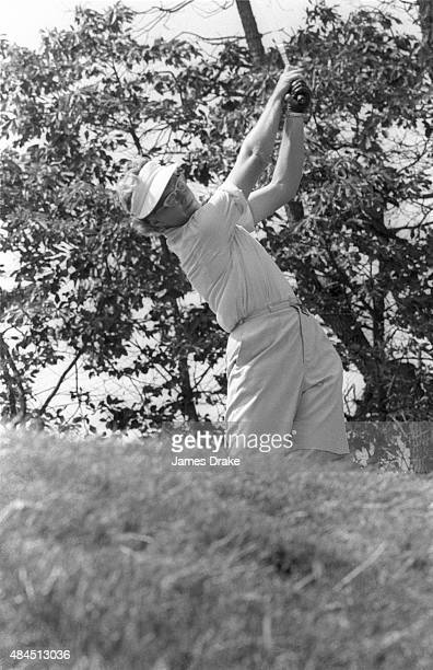 US Women's Open Mickey Wright in action drive during Sunday play at Baltusrol GC Springfield NJ CREDIT James Drake