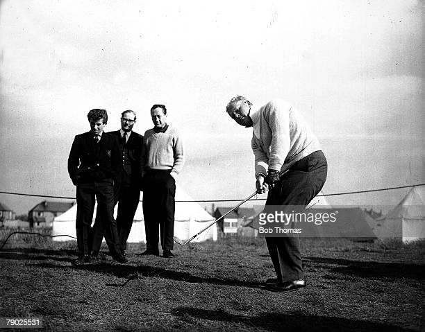Golf USAs Jack Nicklaus who became a golfing legend playing in the Picadilly Tournament 1962