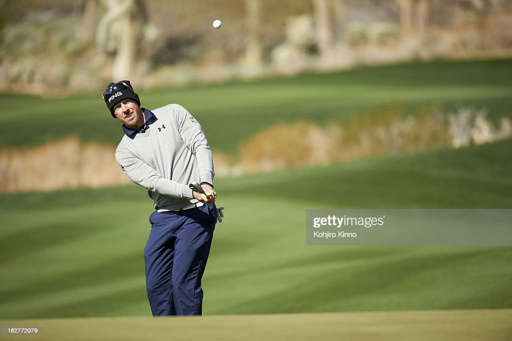 Hunter Mahan in action during semifinal on Sunday at Ritz-Carlton GC of Dove Mountain. Kohjiro Kinno F300 )