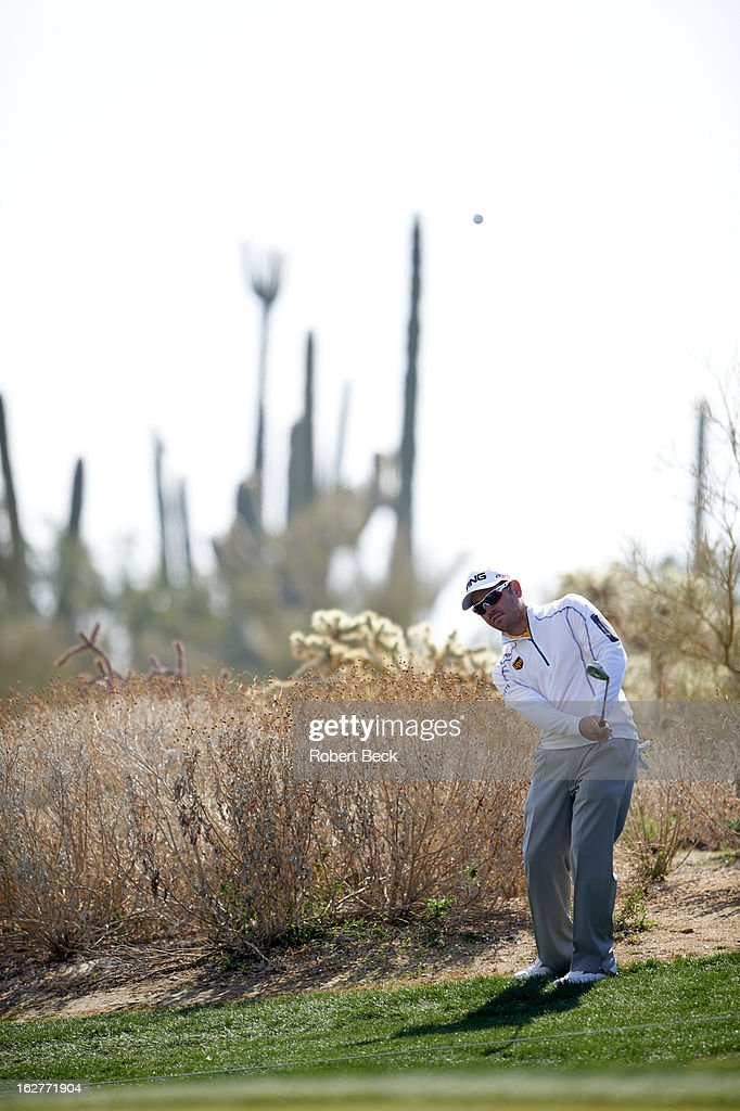 Louis Oosthuizen in action during Friday play at Ritz-Carlton GC of Dove Mountain. Robert Beck F32 )