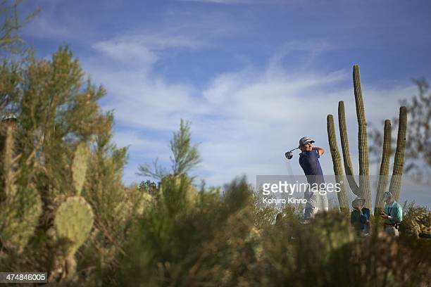 WGC Accenture Match Play Championship Scenic view of Justin Rose in action during Thursday play at The Golf Club at Dove Mountain Marana AZ CREDIT...