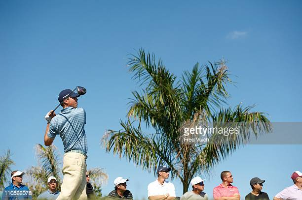 WGC Cadillac Championship Matt Kuchar in action drive from tee on No 8 during Sunday play at TPC Blue Monster Course of Doral Resort SpaDoral FL...