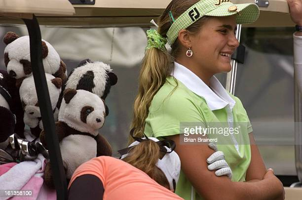 Golf12 - DENVER, CO, JUNE 12, 2007 - Twelve-year-old Alexis Thompson, of Coral Springs, Fla., the youngest player to ever qualify for the U.S....