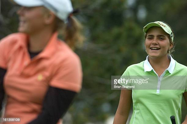 golf12 DENVER CO JUNE 12 2007 Twelveyearold Alexis Thompson of Coral Springs Fla the youngest player to ever qualify for the US Women's Open in...