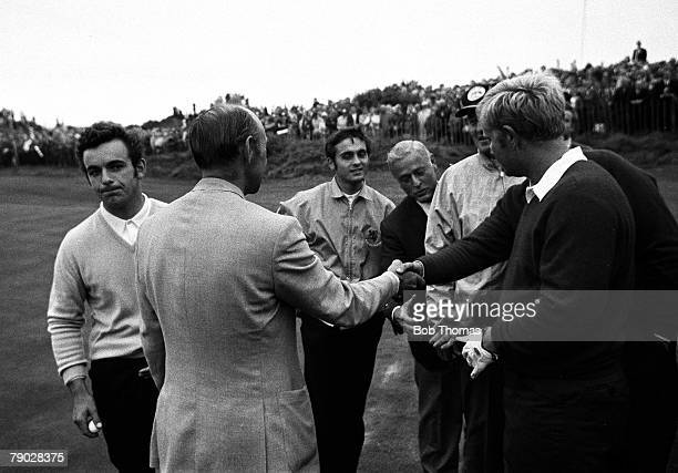Golf1969 Ryder Cup Royal Birkdale Great Britain 16 v America 16 Great Britain's Tony Jacklin looks disappointed after a tie in his match with USA's...