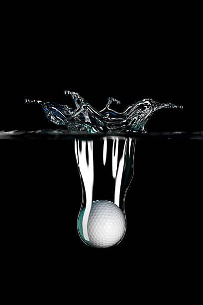 Golfball falling into water