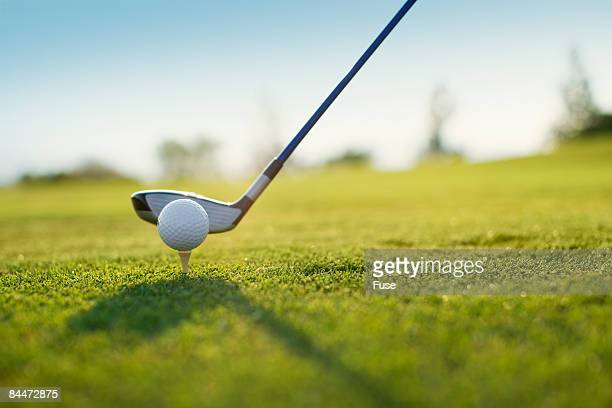 golfer about to tee off - teeing off stock pictures, royalty-free photos & images