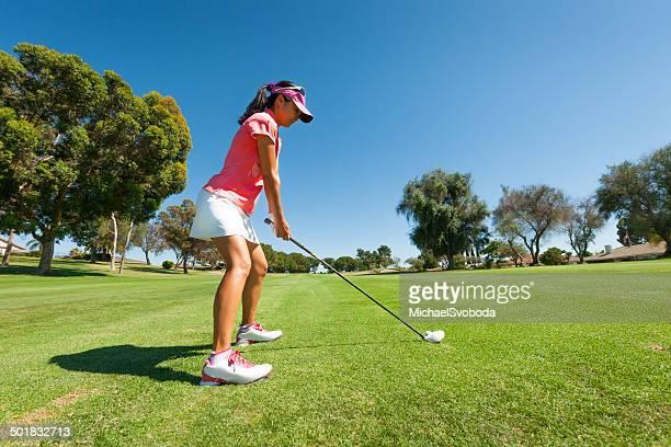Golfer Aiming