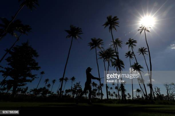 TOUR golfer Amanda Blumenherst plays a tee shot on the fourth hole during the second day of the Puerto Rico Open Charity ProAm at TPC Dorado Beach on...