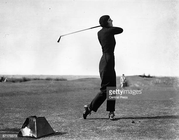 Golfer and magician Gloria Minoprio causes a stir at the Women's Golf Union Championship in Westward Ho by playing in trousers 3rd October 1933 She...