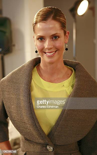 Golfer and Model Anna Rawson attends the Mendonca Fall 2008 during MercedesBenz Fashion Week at Exit Art on February 7 2008 in New York City