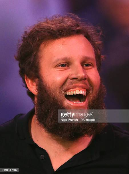 Golfer Andrew 'Beef' Johnston during day eleven of the William Hill World Darts Championship at Alexandra Palace London
