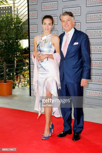 Golfer Anna Poerings and guest during the German Media Award 2016 at Kongresshaus on May 25 2017 in BadenBaden Germany The German Media Award has...