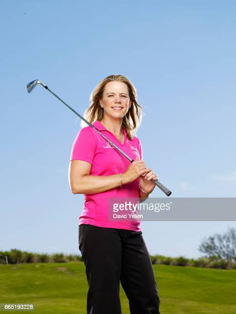 Golfer Annika Sorenstam is photographed for Fortune Magazine in 2008 at her golf academy in Florida
