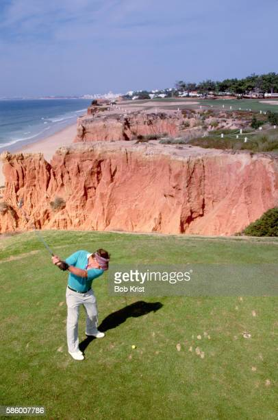 Golfer at Cliffside Tee