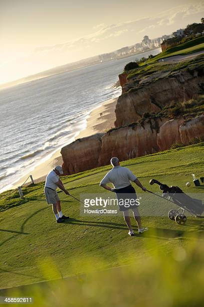 golfer at vale de lobo portugal - algarve stock photos and pictures