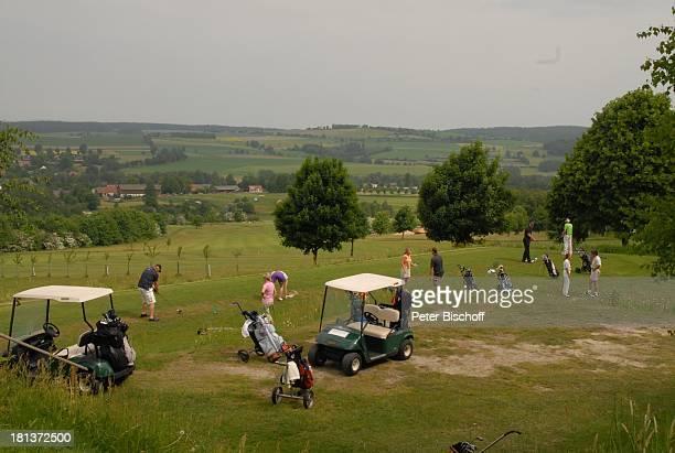 """Golfer, Benefiz-Golf-Turnier des Promi-Charity-Golf-Clubs """"Eagles"""" zugunsten des parkinsonkranken Ex-Star-Tenor P E T E R H O F M A N N, Golf-Hotel..."""