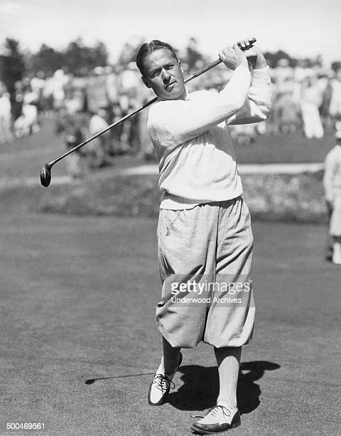 Golfer Bobby Jones playing at Pebble Beach Pebble Beach California circa 1929