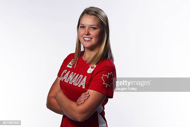 Golfer Brooke Henderson poses for a portrait at the Team Canada Rio 2016 Media Summit shoot at the Hilton Hotel on December 10 2015 in Toronto...