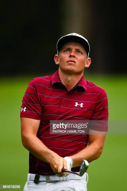 Golfer Cameron Smith of Australia watches his shot during the final round of the Australian PGA Championship golf tournament at the Royal Pines...