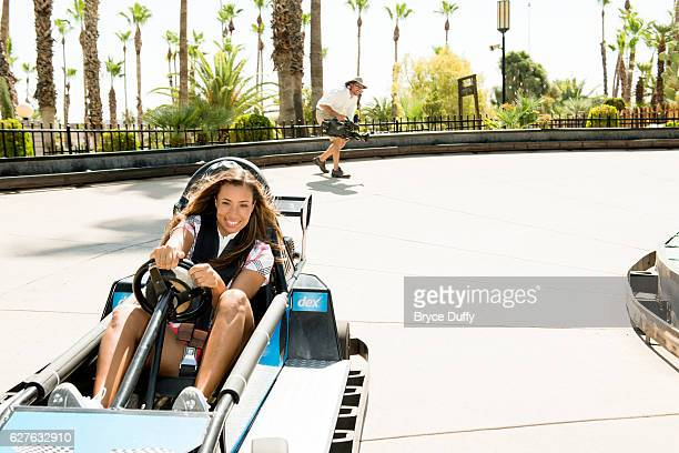 Golfer Cheyenne Woods is photographed for Golf Digest on June 25 2012 at Castles 'N Coasters in Phoenix Arizona