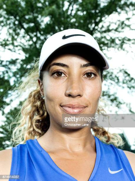 Golfer Cheyenne Woods is photographed on July 13 2017 at the US Open in Bedminster New Jersey