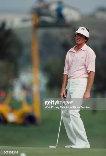 Golfer competing in the 1977 PGA Tournament of Champions ABC Sports coverage