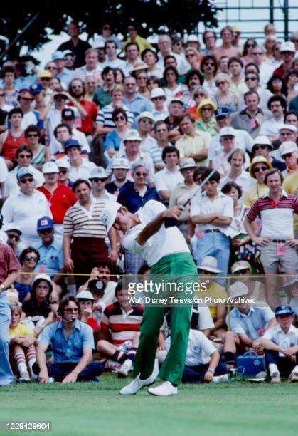 Golfer competing in the 1979 Tournament Players Championship, at Sawgrass Country Club.