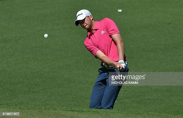 Golfer Daniel Berger plays a shot on the 2nd hole during Round 1 of the 80th Masters Golf Tournament at the Augusta National Golf Club on April 7 in...