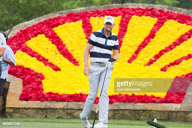 Golfer Daniel Berger plays his shot from the 18th tee during Shell Houston Open on April 02, 2017 at Golf Club of Houston in Humble, TX.