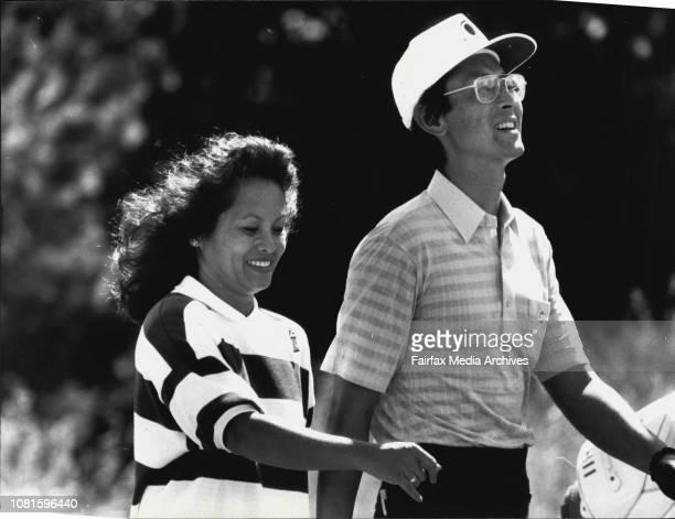 Golfer David Ishii and his wife Lorraine October 27 1987