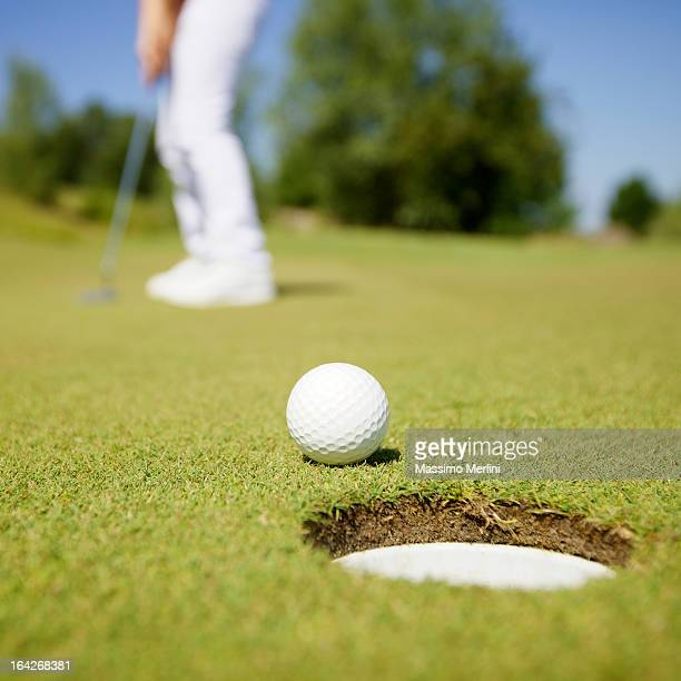 Golfer During a Game