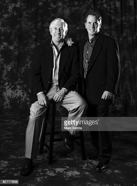 Golfer Hale Irwin and his son Steve pose for a portrait on December 30, 2008. In Orlando, Florida..